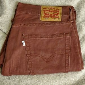 EUC Levi's Mens 502 Soft Twill Pants 34 x 30